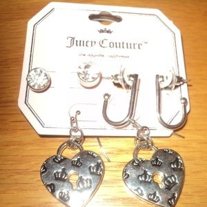 New With Tags 3 pair of Juicy Couture Earrings